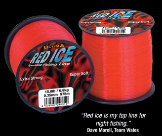 Ultima red ice braid mono fly line flash fishing tackle for Red fishing line