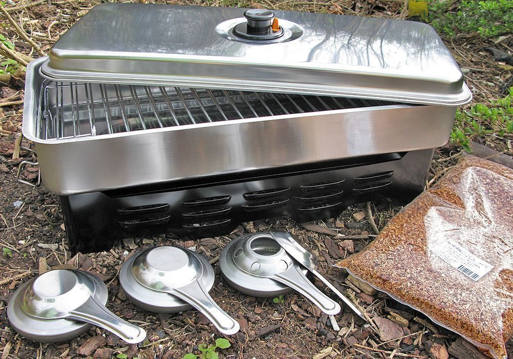 Extra Large Fladen Home Fish Meat Smoker 3 Burners Camping Boat FREE WOOD CHIPS